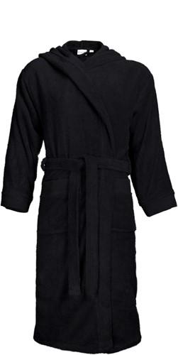 T1-BH Bathrobe hooded - Black - L/XL