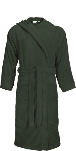 T1-BH Bathrobe hooded - Dark green - S/M