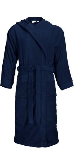 T1-BH Bathrobe hooded - Navy blue - S/M