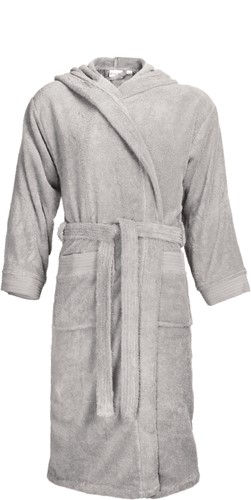 T1-BH Bathrobe hooded - Silver grey - L/XL