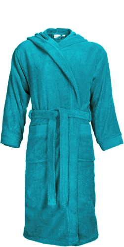 T1-BH Bathrobe hooded - Turquoise - S/M