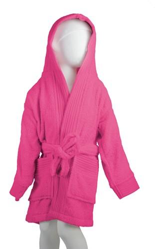 T1-BKIDS Kids bathrobe - Magenta - 152/164