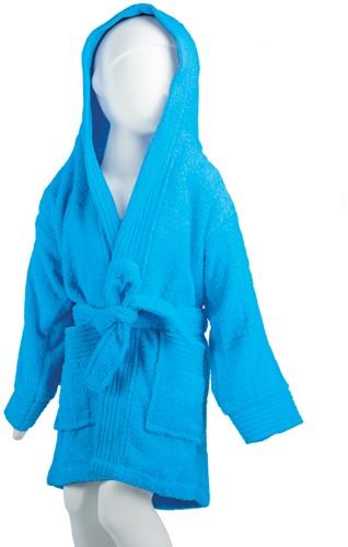 T1-BKIDS Kids bathrobe - Turquoise - 152/164