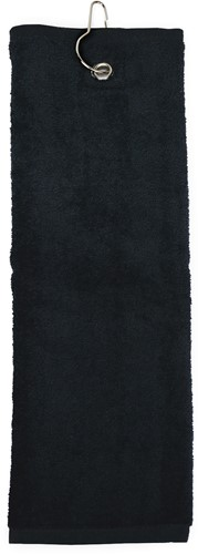 T1-GOLF Golf towel - Black - 40 x 50 cm