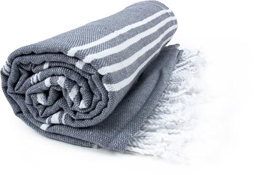 T1-HAMSULTAN Hamam sultan towel - Anthracite/white - 100 x 180 cm