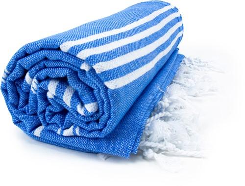 T1-HAMSULTAN Hamam sultan towel - Blue/white - 100 x 180 cm