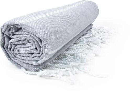 T1-HAMSULTAN Hamam sultan towel - Light grey/white - 100 x 180 cm