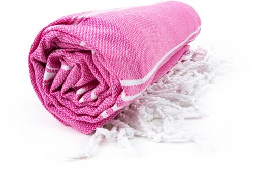 T1-HAMSULTAN Hamam sultan towel - Pink/white - 100 x 180 cm