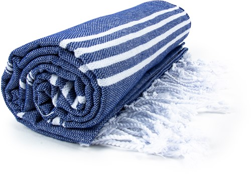 T1-HAMSULTAN Hamam sultan towel - Navy blue/white - 100 x 180 cm