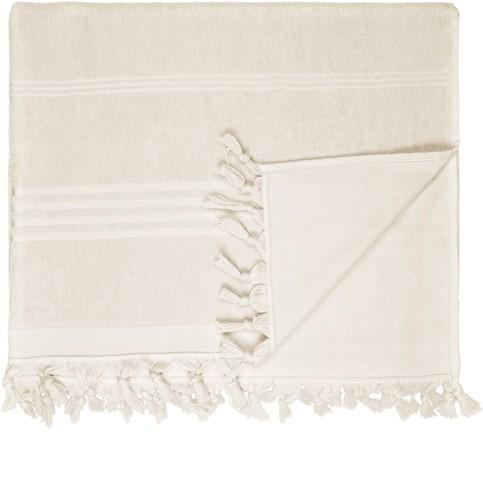 T1-HAMTERRY Hamam terry towel - Sand - 100 x 165 cm