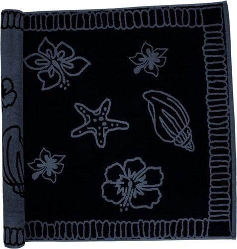 T1-HAWAII Beach towel hawaii - Black/anthracite - 90 x 190 cm