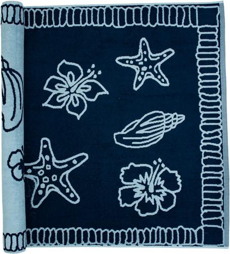 T1-HAWAII Beach towel hawaii - Navy blue/light blue - 90 x 190 cm