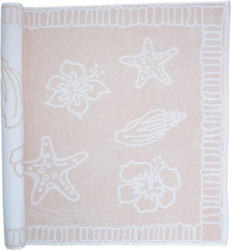 T1-HAWAII Beach towel hawaii - Salmon/white - 90 x 190 cm