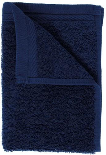 T1-ORG30 Organic guest towel - Navy blue - 30 x 50 cm