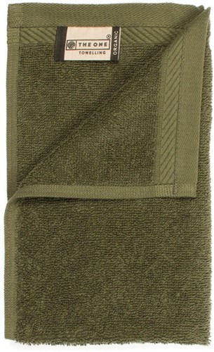 T1-ORG30 Organic guest towel - Olive green - 30 x 50 cm