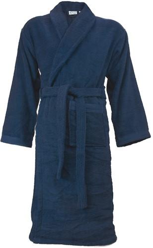 T1-ORGB Organic bathrobe - Navy blue - S/M