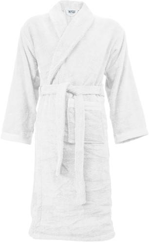 T1-ORGB Organic bathrobe - White  - S/M