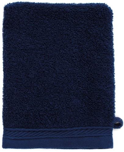 T1-ORGWASH Organic washcloth - Navy blue - 16 x 21 cm