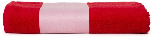T1-PRINT70 Sublimation bath towel - Red - 70 x 140 cm