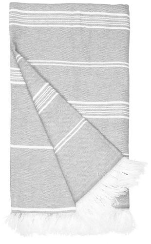 T1-RHAM Recycled hamam towel - Ash grey - 100 x 180 cm