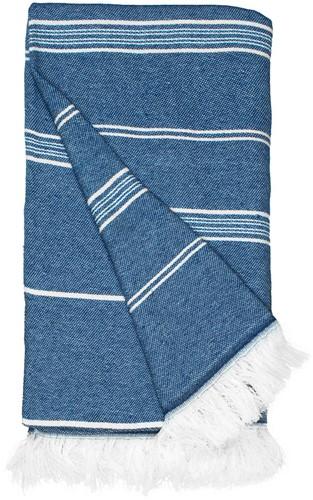 T1-RHAM Recycled hamam towel - Navy blue - 100 x 180 cm