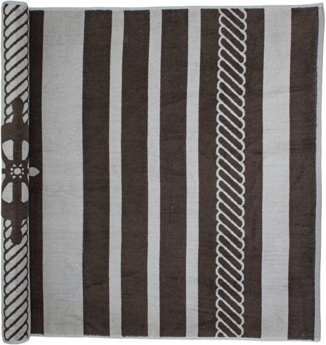T1-SAILOR Beach towel - Brown/cream - 90 x 190 cm