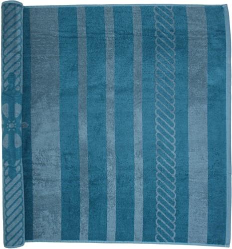 T1-SAILOR Beach towel - Petrol/grey - 90 x 190 cm