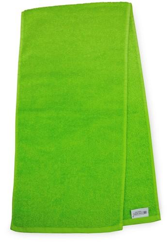T1-SPORT Sport towel - Lime green - 30 x 130 cm