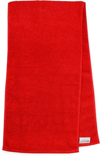 T1-SPORT Sport towel - Red - 30 x 130 cm