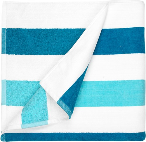 T1-STRIPE Beach towel stripe - Petrol/mint - 90 x 190cm