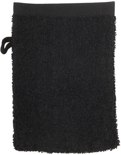 T1-WASH Washcloth - Black - 16 x 21 cm