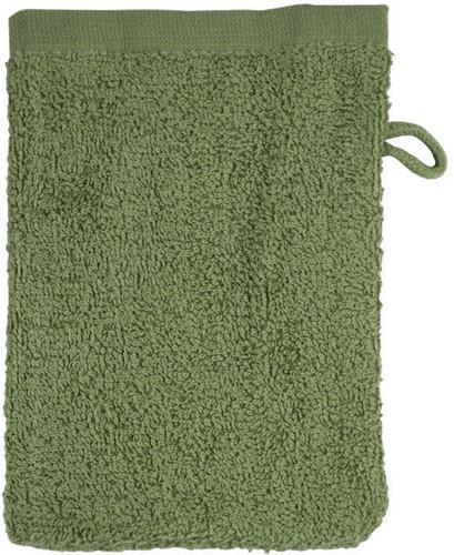 T1-WASH Washcloth - Olive green - 16 x 21 cm