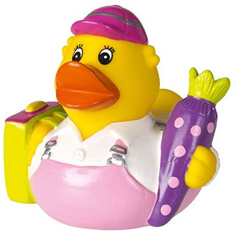 M131136 Squeaky duck school - Rose - one size
