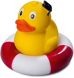 M131169 Squeaky duck standing graduate - Multicoloured - one size