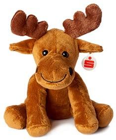 M160034 Zoo animal moose Emil - Brown - one size