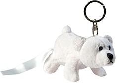 M160098 Plush polar bear Freddy with key chain - White - one size