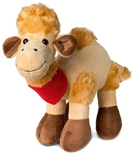 M160419 Plush camel Amira - Light brown - one size