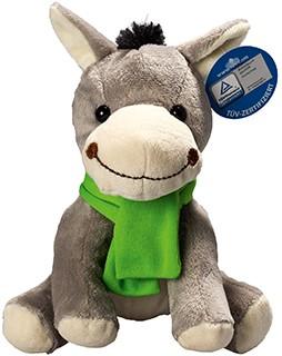 M160626 Zoo animal donkey Alex - Grey - one size