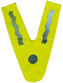 M110426 Kids reflective collar - Lime yellow - one size