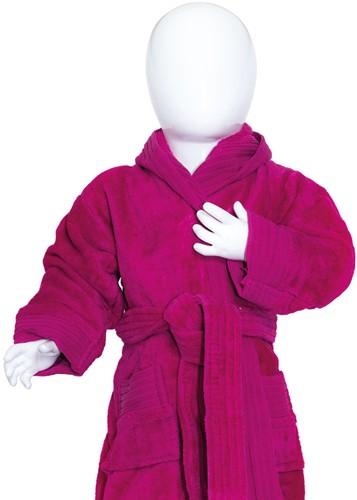 T1-BABYBATH Baby bathrobe - Magenta - 68/74