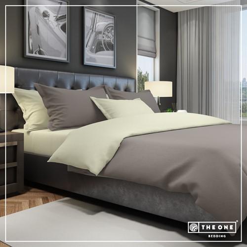 T1-BC200 Bedset Classic - Taupe / cream - 200 x 220 cm