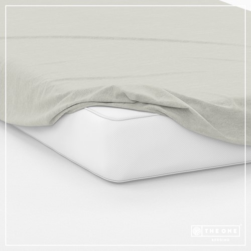 T1-FS200 Fitted Sheets - Cream - 200 x 220 cm