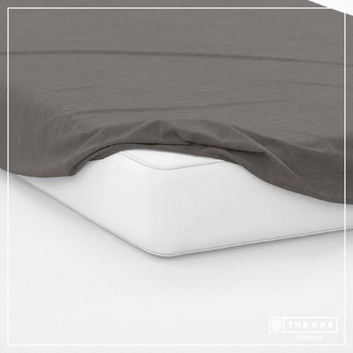 T1-FS200 Fitted Sheets - Dark grey - 200 x 220 cm