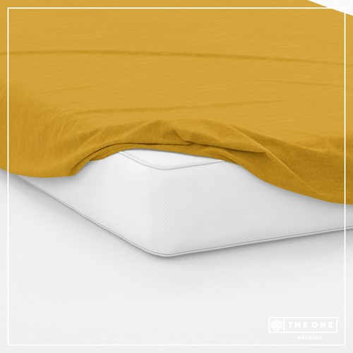 T1-FS160 Fitted Sheets - Gold - 160 x 220 cm