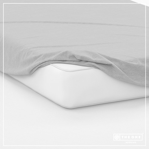T1-FS160 Fitted Sheets - Light grey - 160 x 220 cm