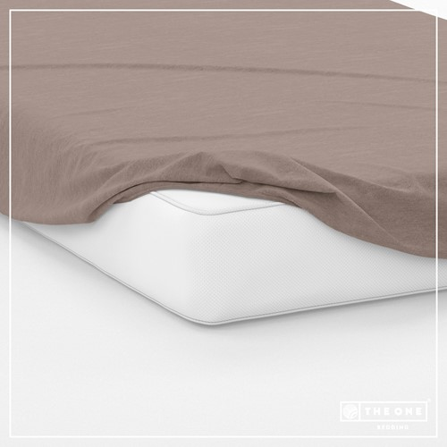 T1-FS100 Fitted Sheets - Taupe - 100 x 220 cm