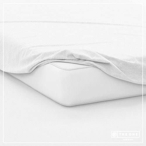 T1-FS100 Fitted Sheets - White - 100 x 220 cm