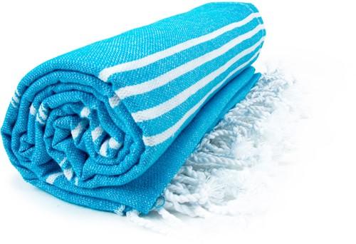 T1-HAMSULTAN Hamam sultan towel - Turquoise/white - 100 x 180 cm