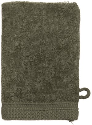 T1-ULTRAWASH Ultra deluxe washcloth - Olive green - 16 x 21 cm