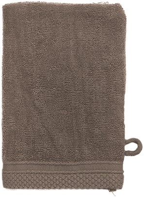 T1-ULTRAWASH Ultra deluxe washcloth - Taupe - 16 x 21 cm